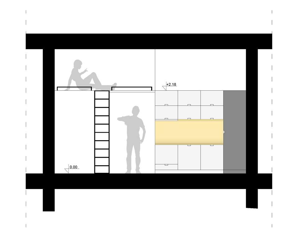 Sjajno rešenje za multifunkcionalni stan od 40 kvadrata