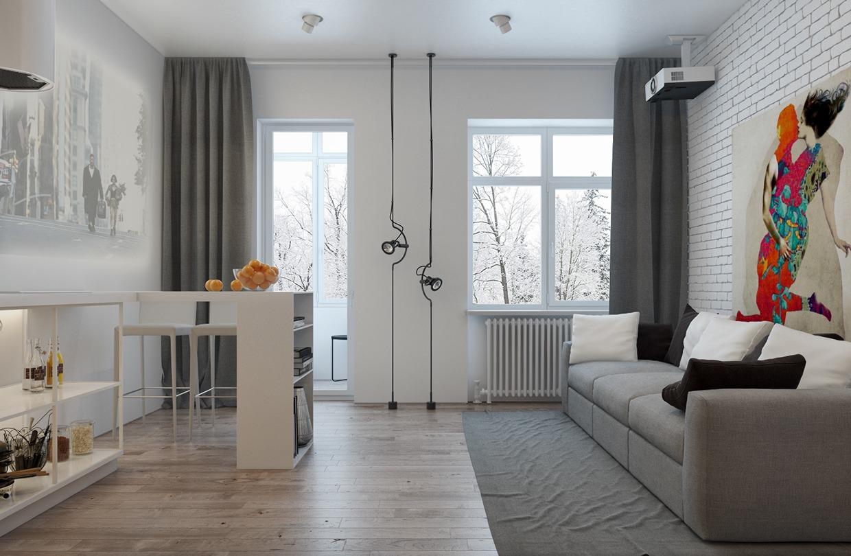 Small Apartment Industrial: Open industrial bathroom design ...