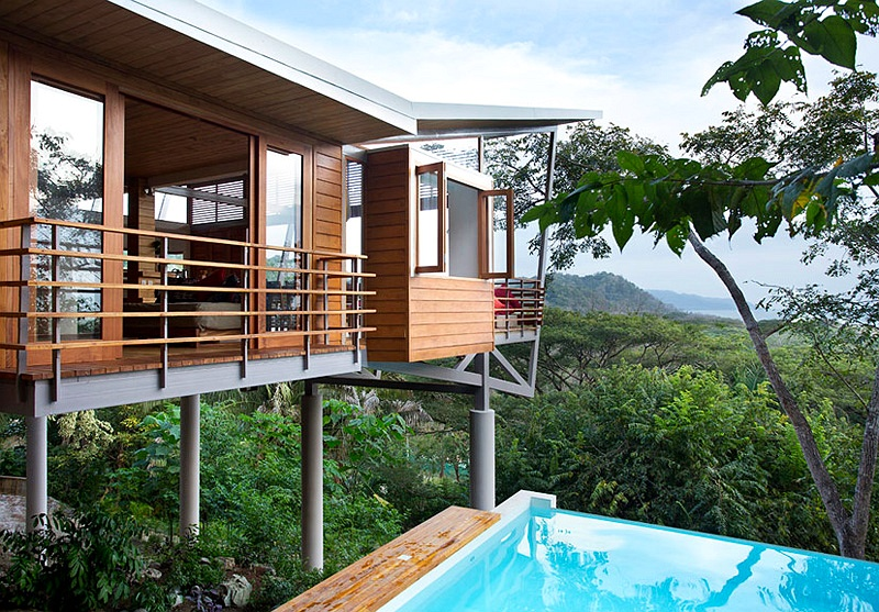 Luksuzna vikendica s pogledom na džunglu